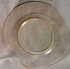 "Dogwood Pink Dinner Plate 9.25"" Mac Beth Evans Glass Company"