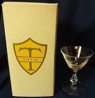 "Santa Anita Crystal Cocktail 4.25"" in Box Tiffin Glass Company"