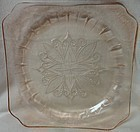 "Adam Pink Dinner Plate 9"" Jeannette Glass Company"