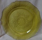 "Patrician Amber Dinner Plate 10.5"" Federal Glass Company"
