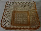 "Little Jewel Pink Honey Dish 5.5""Square Imperial Glass Company"