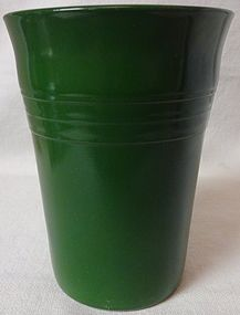 Moderntone Dark Green Tumbler 9 oz Hazel Atlas Glass Company
