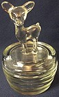 Bambi Crystal Powder Jar 5.5""
