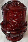 "Red Fairy Lamp 6"" Viking Glass Company"