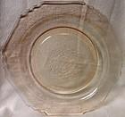 "Florentine #1 Pink Dinner Plate 10"" Hazel Atlas Glass Company"