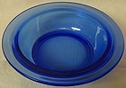 "Moderntone Cobalt Berry Bowl 5"" Hazel Atlas Glass Company"