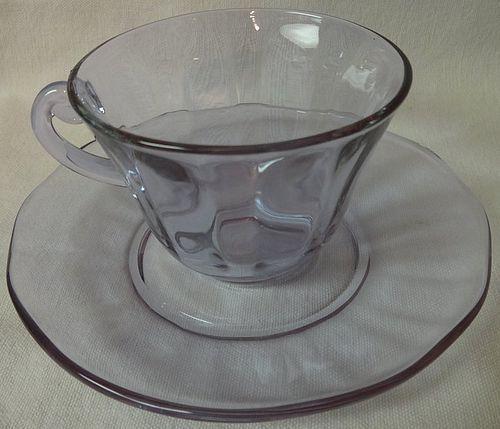 La Fayette Wisteria Cup and Saucer Fostoria Glass Company