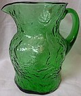 "Crinkle Ockner Pitcher 8.25"" Morgantown Glass Company"