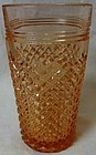 "Miss America Pink Ice Tea Tumbler 5.75"" 14 oz Hocking Glass Company"