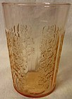 "Sharon Pink Tumbler Thin Water 4"" Federal Glass Company"
