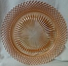 "Miss America Pink Dinner Plate 10.25"" Hocking Glass Company"