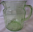 "Cameo Green Juice Pitcher 6"" 36 oz Hocking Glass Company"