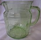 "Cameo Green Juice Pitcher 6"" 36 oz Hocking Glass Company"