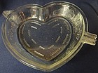 "Cupid and Arrow Crystal Pie Plate 10.75"" Saben Glass Company"