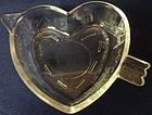 """Cupid and Arrow Crystal Tart Plate 7"""" Saben Glass Company"""