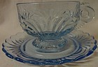 Caprice Moonlight Blue Cup and Saucer Cambridge Glass Company