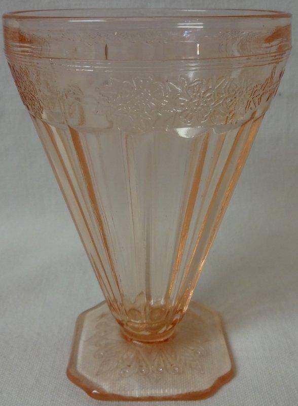 "Adam Pink Water Tumbler 4.5"" Jeannette Glass Company"