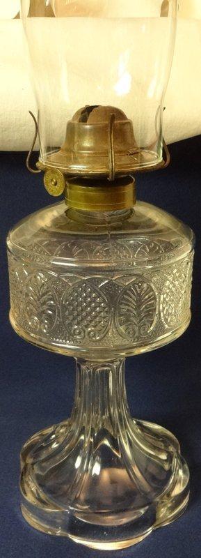 """Palmette Crystal Oil Lamp 9.25"""" Bryce Walker & Company"""