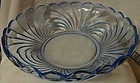 "Caprice Moonlight Blue Salad Bowl 13.5"" #80 Cambridge Glass Company"