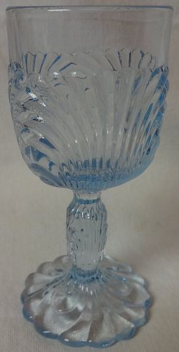 "Caprice Moonlight Blue Heavy Wine 4.75"" 2 oz #6 Cambridge Glass"