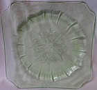 "Adam Green Salad Plate 7.75"" Jeannette Glass Company"