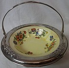 "Golden Maine Bowl in Farberware Tray 6 5/8"" Sebring Pottery"