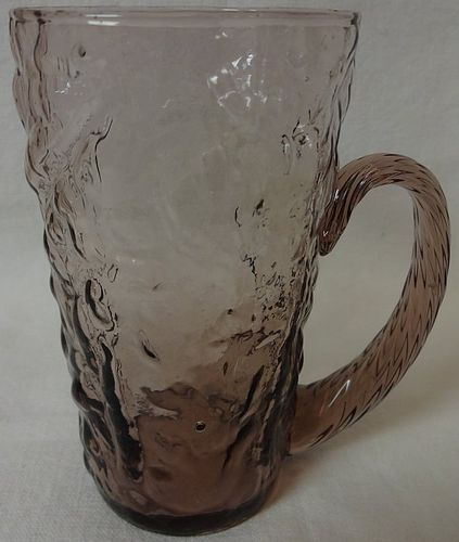 "Crinkle Amethyst Handled Tumbler 4.75"" Morgantown Glass Company"