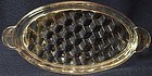 "American Crystal Tray Oval Handled 6.75"" x 3.25"" Fostoria Glass"