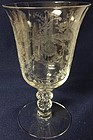 "Orchid Crystal Low Water Goblet 6.5"" 10 oz Heisey Glass Company"