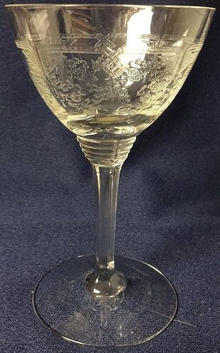 Cocktail Etched Crystal 5""