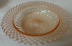 "Miss America Pink Cereal Bowl 6.25"" Hocking Glass Company"
