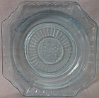 "Mayfair Blue Plate 5.75"" Hocking Glass Company"