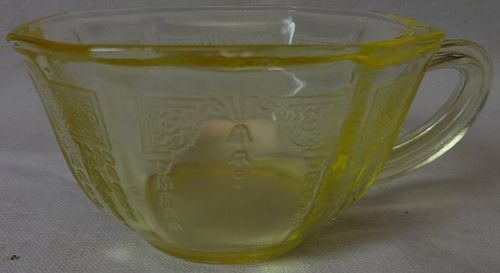 Princess Yellow Cup Hocking Glass Company