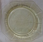"Princess Yellow Dinner Plate 9"" Hocking Glass Company"