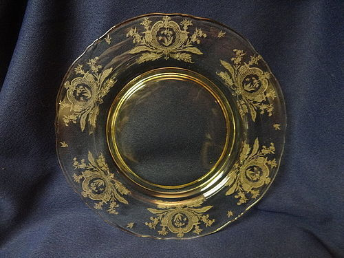 "LaFleure Mandarin Dinner Plate 9.5"" Tiffin Glass Company"