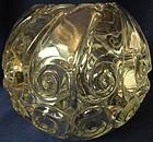 "Snail Crystal Rose Bowl 7"" Duncan Miller Glass Company"