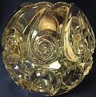 "Snail Crystal Rose Bowl 5"" Duncan Miller Glass Company"