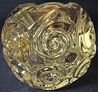 "Snail Crystal Rose Bowl 3"" Duncan Miller Glass Company"
