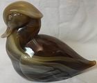 "Sittin"" Duck Carmel Slag 4.5"" Tall Imperial Glass Company"