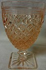 "Miss America Pink Wine Goblet 3.75"" 3 oz Hocking Glass Company"