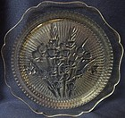 "Iris Crystal Dinner Plate 9.5"" Jeannette Glass Company"
