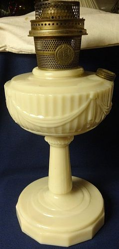 Tall Lincoln Drape Alacite New Formula Aladdin Mantle Lamp Company