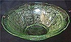 "Cherry Blossom Green berry bowl 8.5"" Jeannette Glass Company"