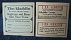 Aladdin Lamp Drawing Ticket