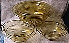 Federal Glass Co. Mixing Bowl Set Amber