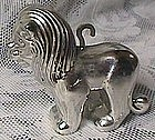 Glow in the Dark Silvered Lion Christmas Ornament