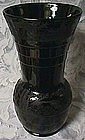 Paden City Black Forest Black Vase