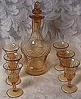 New Martinsville Amber Decanter Set