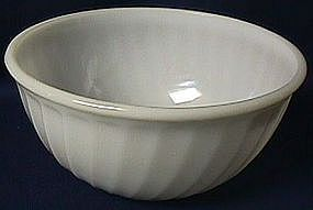 Fire King Swirl White Mixing Bowl