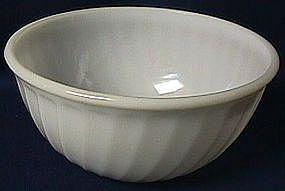 Fire King Swirl White Mixing Bowl